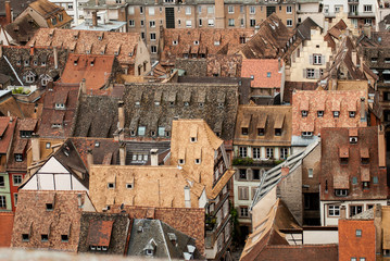 Roofs of  Strasbourg, France
