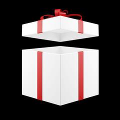 Geschenk mit einem offenen Deckel