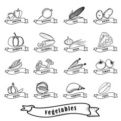 vegetables_outline_set