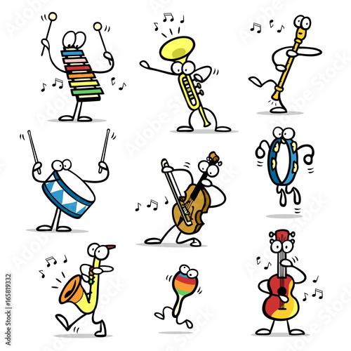 Viele verschiedene musikinstrumente machen musik for 93 house music