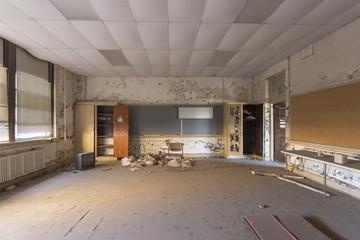 Abandoned auditorium in high school