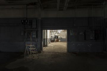 Creepy photo of an abandoned factory