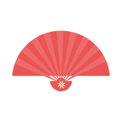 Chinese handfan isolated