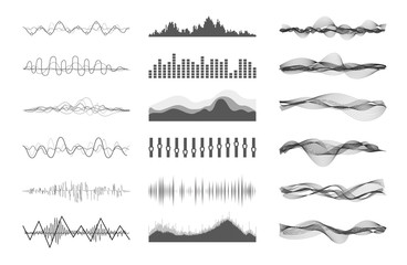 Vector music sound waves Fototapete