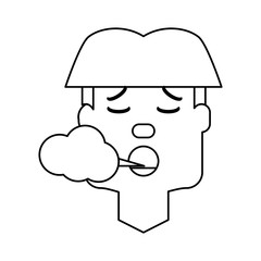 Man smoking cartoon