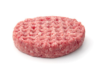 Fresh raw burger patty