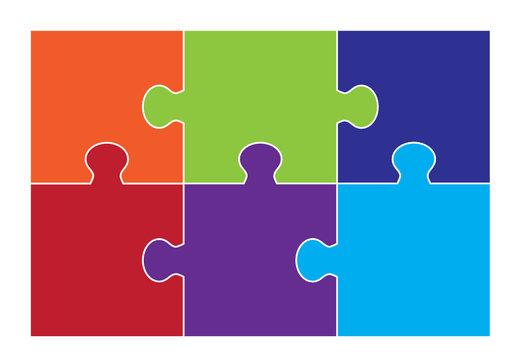 Six Part Square Puzzle