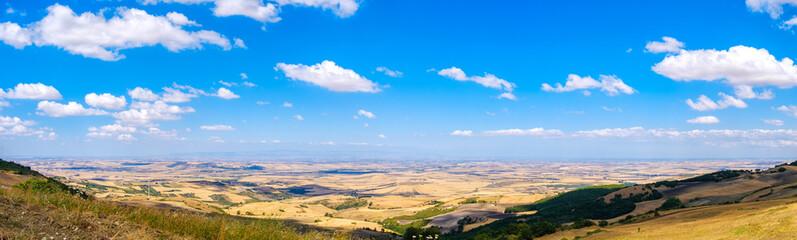 Tavoliere delle Puglie panoramic image plain in Apulia - Foggia province Gargano area