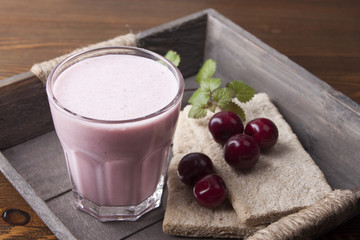 Smoothies with a cherry