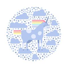 Cute vector unicorn