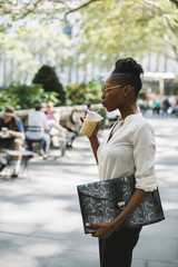 Businesswoman in Bryant Park - New York City