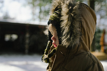 Chilly Toddler at Tree Farm