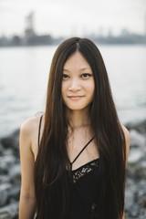 Beautiful asian girl portrait outdoors