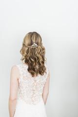 Back shot of the bride