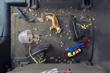 The Back Seat Floor of My Car
