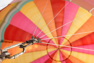 taut stringlines on a hot air balloon
