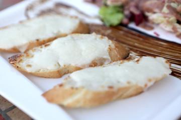 Bruschetta with goat cheese