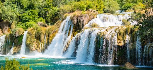 Krka waterfalls, National Park in Croatia