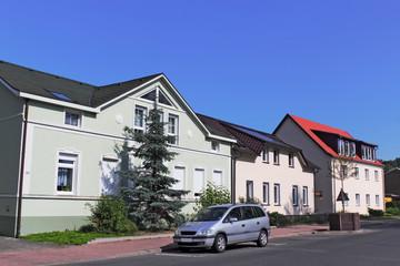 Sanierte Häuserzeile