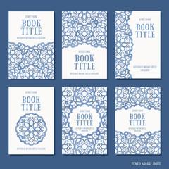 Arabesque design - set of six hand drawn book cover templates