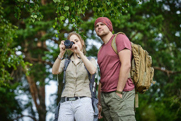two travelers outdoor