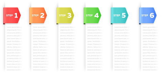 Steps or Process Infographic Element Wall mural