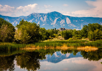Boulder Colorado Lake Reflection