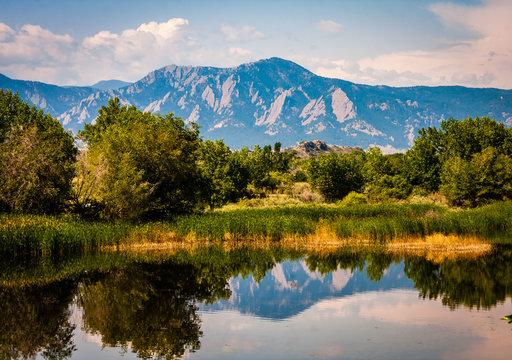 Boulder Colorado Lake Reflection