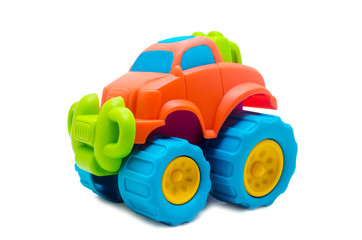 Studio shot of the Colorful Toy Car