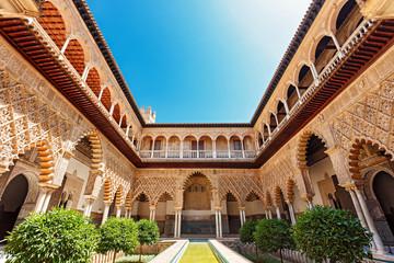 Alcazar Palace at Seville Spain
