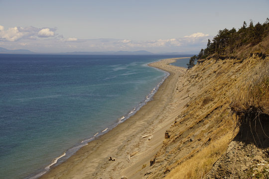 Beach leading to Dungeness spit