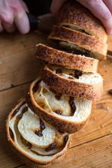 Slicing Raisin Bread