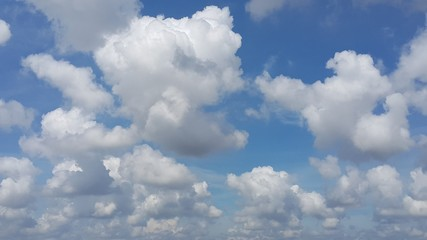 Full frame of clouds computing with blue sky background
