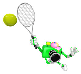 3D Green Camera character is a powerful tennis game play exercises. Create 3D Camera Robot Series.
