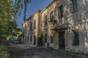 Old ruins of buildings in Medvedice village