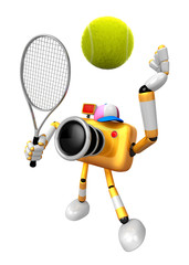 3D Yellow Camera character is a powerful tennis game play exercises. Create 3D Camera Robot Series.