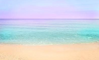 Colorful sea beach sunrise.