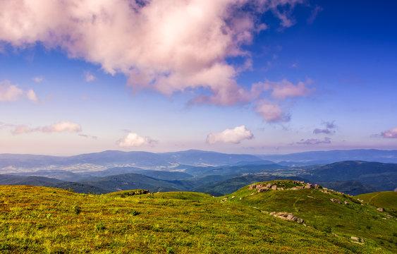 huge rocks on top of mountain ridge