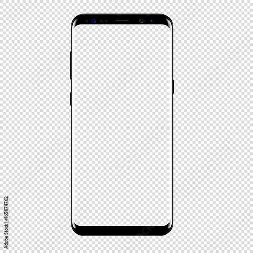 smart phone vector drawing isolated transparent background stock