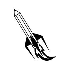 pencil with eraser icon image