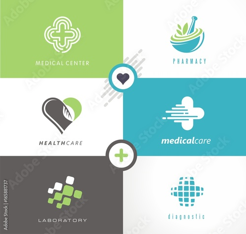 Medical And Health Care Collection Of Creative Logos Symbols And