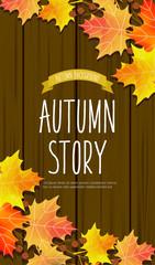 autumn leaves illustration