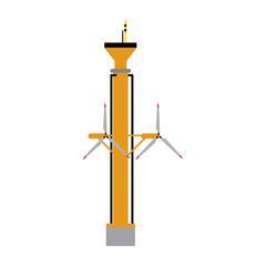 tidal power plant icon image