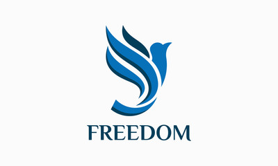 Freedom Flying Bird Logo, Dove Logo template designs