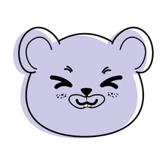 isolated cute mouse face