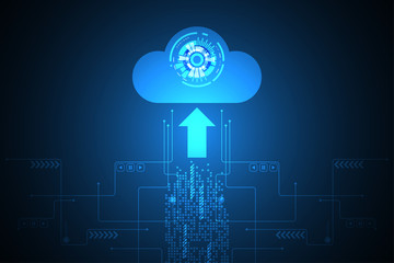 Upload technology in the form of clouds.