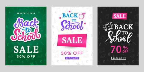 Back to School Sale Banner Templates Set