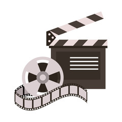 clapperboard film icon image