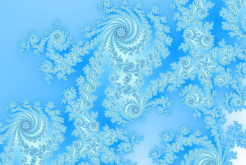 Abstract ice ferns / russian frosty window / russian tradition for fabric