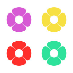 flower decoration set isolated vector
